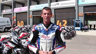 Troy Corser pillion rides with a BMW S1000RR - The Race Academy event in Valencia Ricardo Tormo