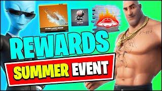 Fortnite SUMMER EVENT Update - Skins & FREE Rewards, Challenges!! (V17.10 Patch Notes)