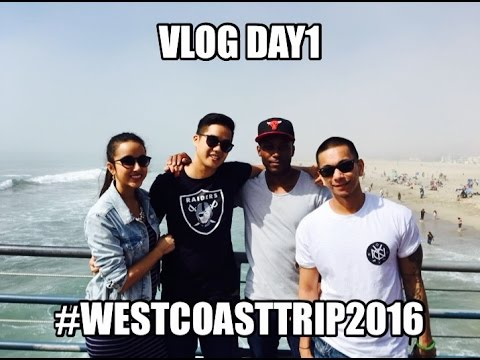 VLOG #1 - Venice Beach / Santa Monica & Best Burger at Fathers Office #westcoasttrip