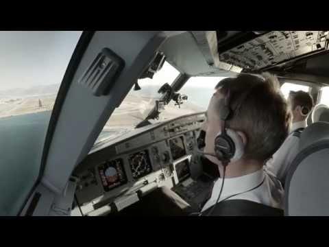 Espectacular vídeo desde la cabina de un Airbus A320 atravesando Europa
