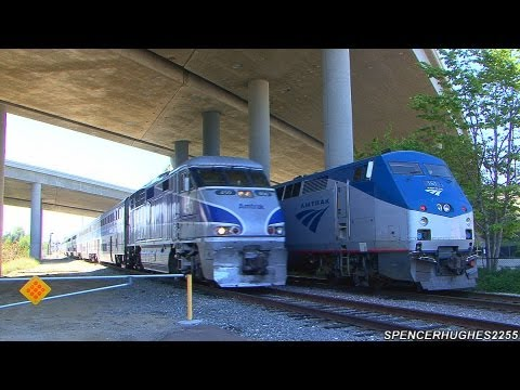 Amtrak & BNSF Action in Sorrento Valley / Rose Canyon (May 11th, 2013)