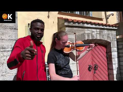 Blaqboy Jnr freestyles in the streets of the Old Town of Tallinn