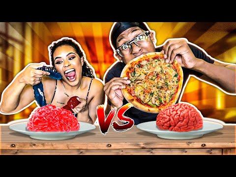 REAL FOOD VS GUMMY FOOD CHALLENGE!! (EATING GIANT GUMMY FOOD)