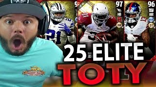 25 ELITE TEAM OF THE YEAR PULLS!! 4 MILLION COINS - MADDEN 17 ULTIMATE TEAM PACK OPENING