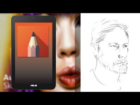 Asus Vivotab Note 8 Tablet Speed Drawing with Sketchbook pro