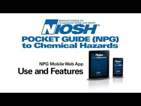 mobile NIOSH Pocket Guide to Chemical Hazards Web Application Usage and Features