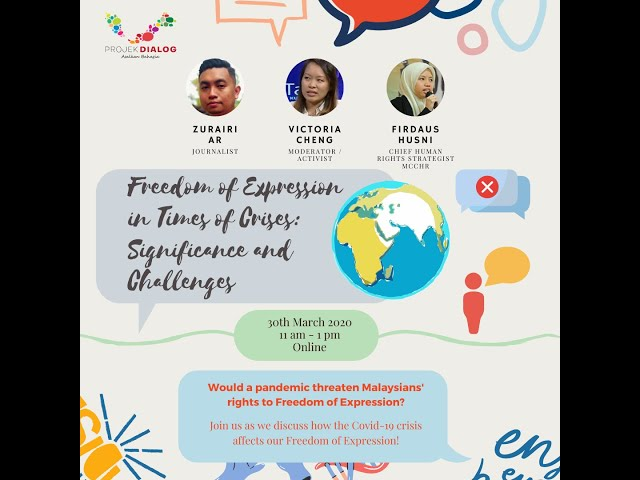 Ayuh Belia! Online Forum: Freedom in Expression in Times of Crises