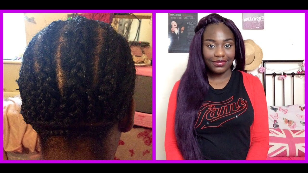 Crochet Braids Purple : All About My Purple Crochet Braids Using X-Pressions Hair - YouTube
