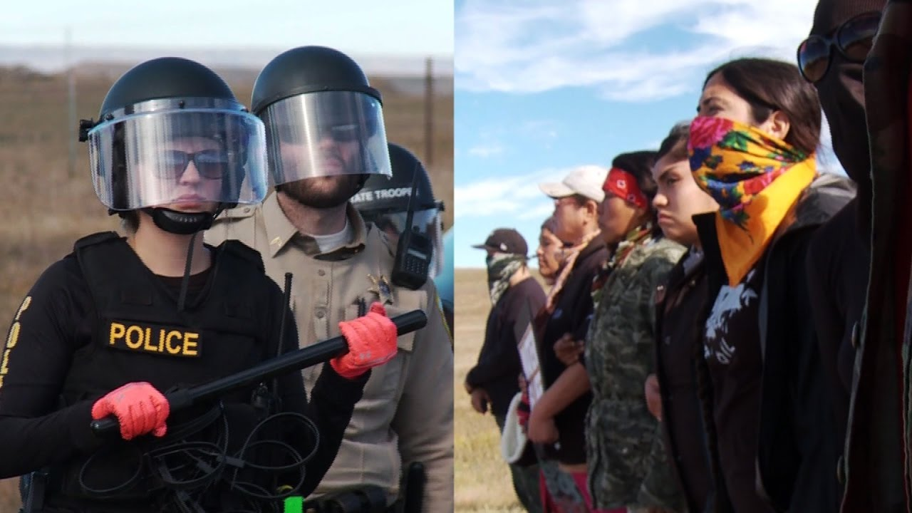 Report from Standing Rock: 100+ Militarized Police Deployed Against Native American Water Protectors