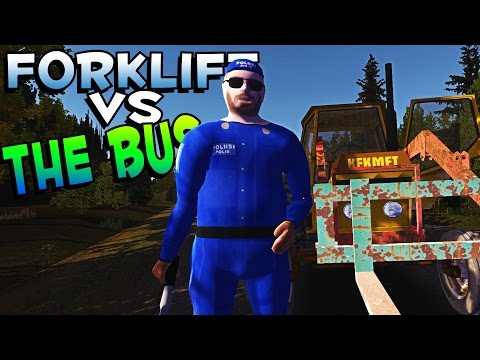 My Summer Car Gameplay | FORKLIFT VS THE BUS! | Let's Play My Summer Car Game + New Update - Part 7