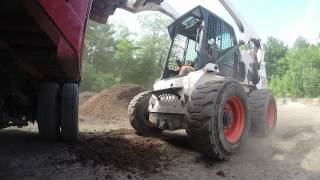 Bobcat S250 Loading Mulch