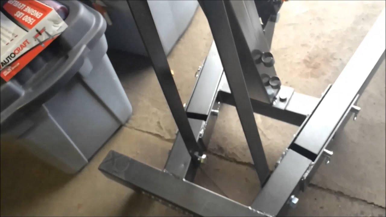 Harbor Freight 1 Ton Shop Crane/Engine Lift - YouTube