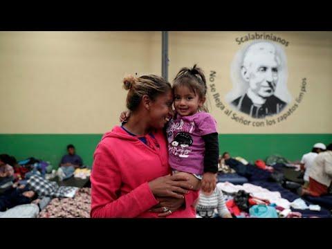 Primer grupo de la caravana migrante llegó a la frontera con México
