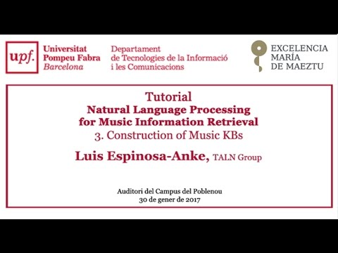 Tutorial - Natural Language Processing for Music Information Retrieval. Construction of Music KBs