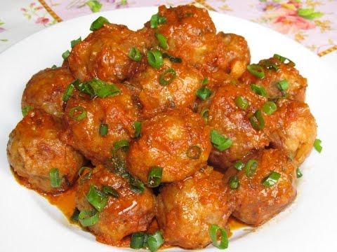 Вкусно - #ТЕФТЕЛИ Мясные с Рисом в Томатно - Овощном Соусе #Рецепт