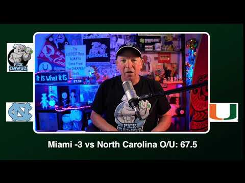 Miami vs North Carolina 12/12/20 Free College Football Picks and Predictions CFB Tips
