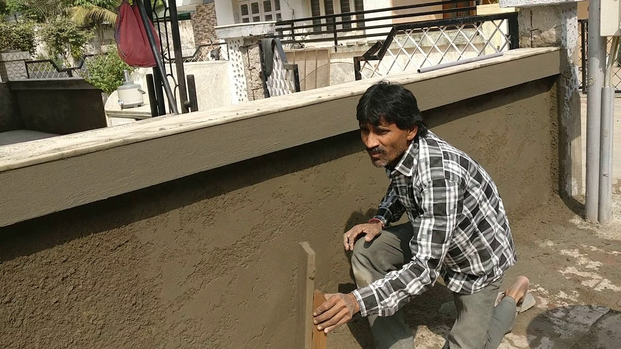 Special Cement Plaster Design Youtube