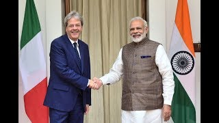 New Delhi, Gentiloni incontra il Primo Ministro dell'India Modi