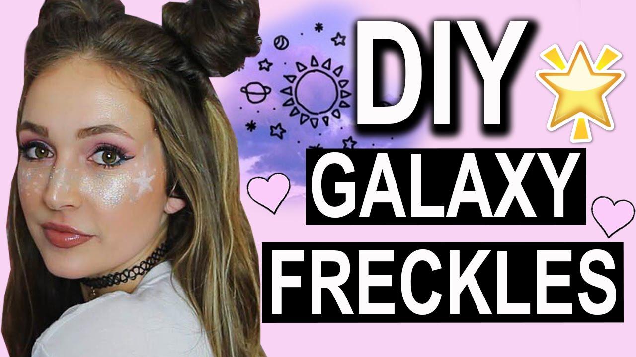 fe34467f2eff1 DIY GALAXY FRECKLES! ! Easy Tutorial! - YouTube
