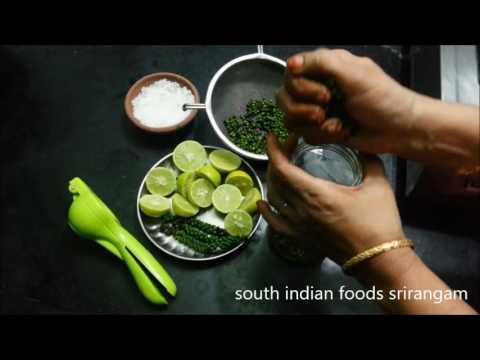 pacha milagu neer oorugai / green whole raw pepper lemon juice pickle