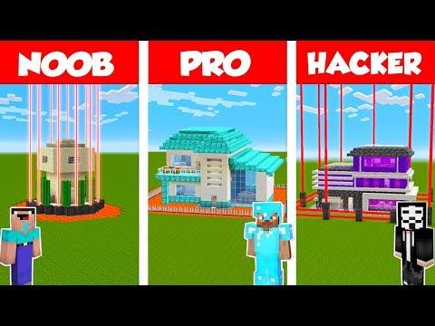 Minecraft NOOB vs PRO vs HACKER: SAFEST HOUSE DEFENSE CHALLENGE in Minecraft / Animation