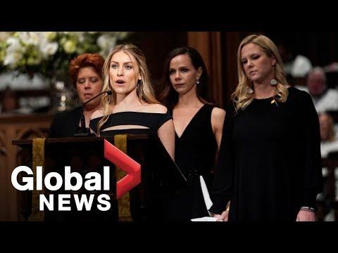 Bush funeral: Grandchildren remember former president in psalm