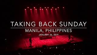 Taking Back Sunday 20th Anniversary Tour Manila, Philippines 012619