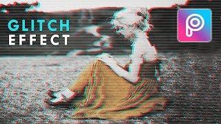 Cara Edit Glitch Effect di Picsart Android dan iOS - Tutorial