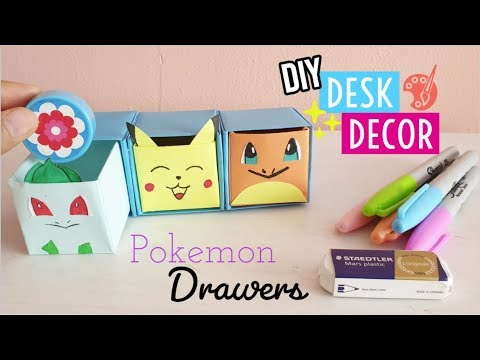 DIY Pull Out Drawers Origami With Pokemon   Mini Organizer from paper