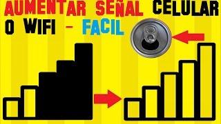 TRUCO📡 Como AUMENTAR la SEÑAL del CELULAR Y del WIFI | Antena para celular| Muy Facil | Android iOS