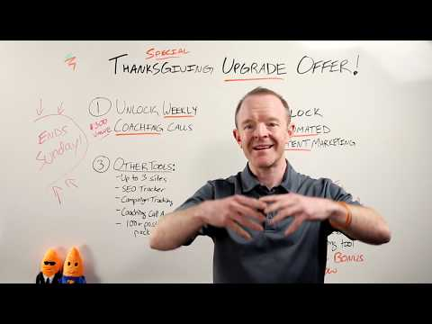 Upgrade To Content Pro Today! Thanksgiving Week Upgrade Offer for Carrot Core Members
