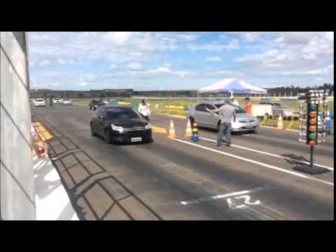 C4 VTR x Civic Si - Pista arrancada 201m