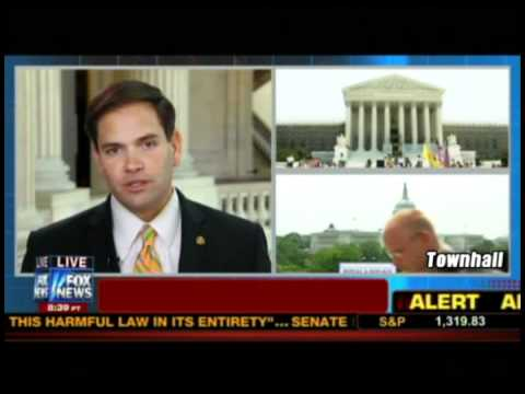 "Rubio On H'care ""Tax"" Ruling: ""If You Don't Buy H' Insurance You Have An IRS Problem"""