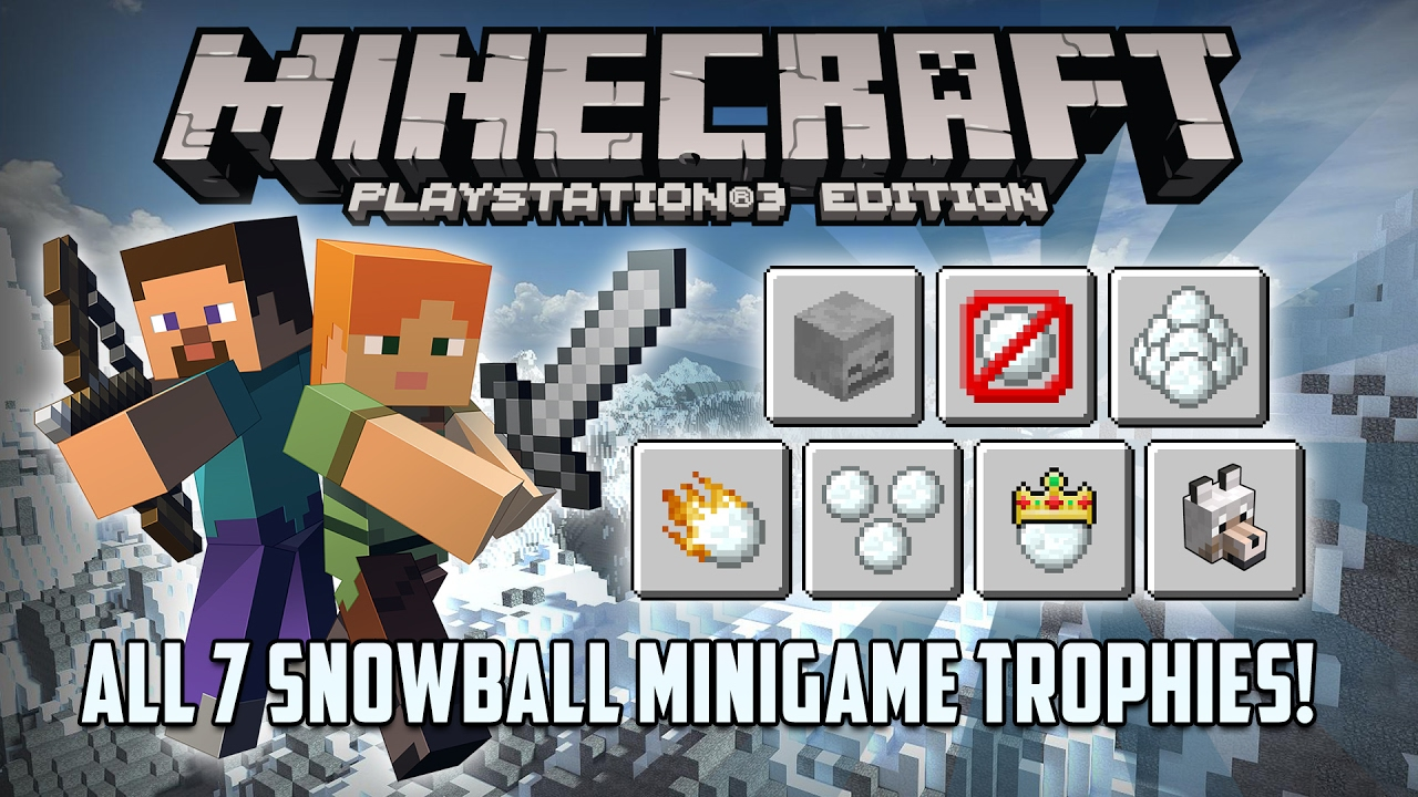 minecraft ps3 edition all snowball minigame trophies w split rh youtube com playstation vr trophy guide psn trophy guide witcher 3