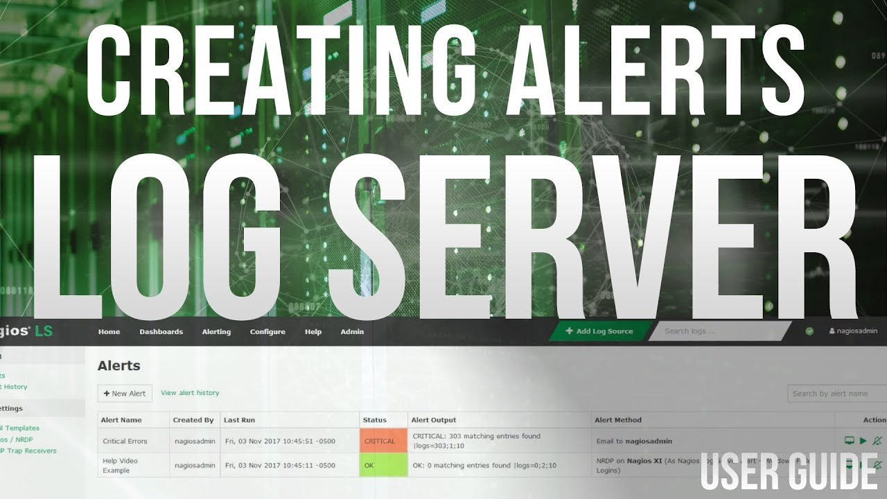 Setting up alerts in Nagios Log Server 2 - Dauer: 4 Minuten