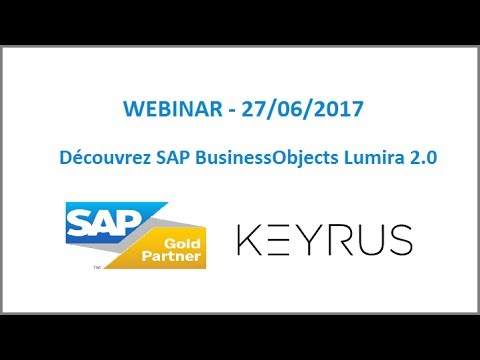 Webinar SAP BusinessObjects Lumira 2 0