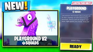 PLAYGROUND MODE V2 GAMEPLAY in Fortnite Battle Royale!