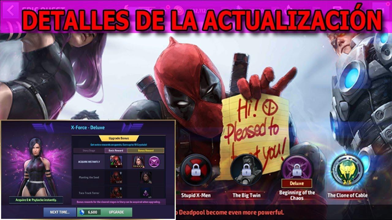 Marvel Future Fight Deadpool Tier 2 Detalles De La Nueva