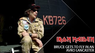 Bruce gets to fly in an Avro Lancaster