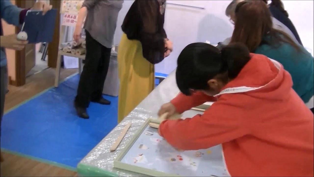 輸入壁紙 ふじみ野市 母と子の輸入壁紙貼り方教室 卒業作品制作 ベスト