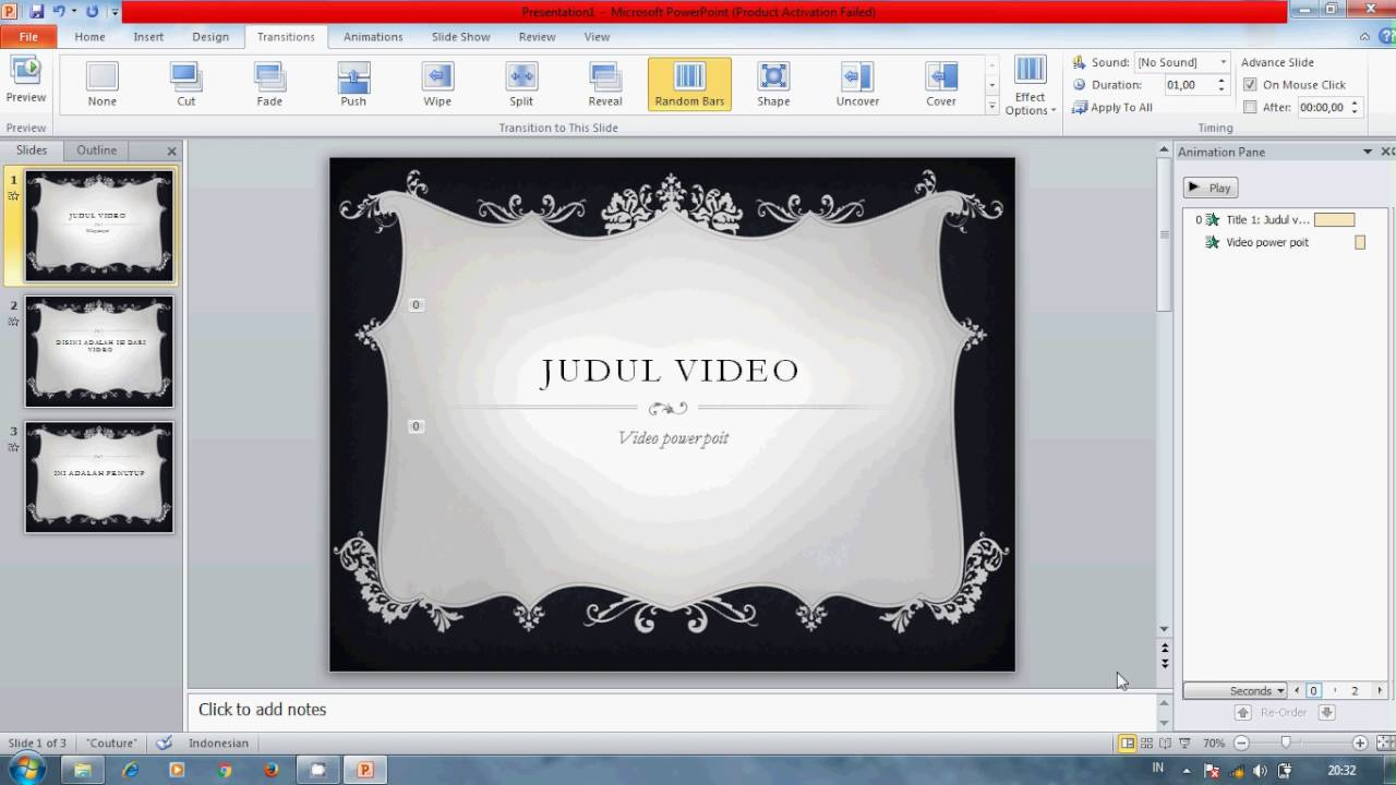 Cara Membuat Video Dari Powerpoint 2010 Youtube
