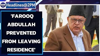 National Conference claims 'Farooq Abdullah prevented from leaving residence'|Oneindia News
