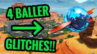 EPIC 4 BALLER Glitches In 1 Video! Fortnite Glitches!