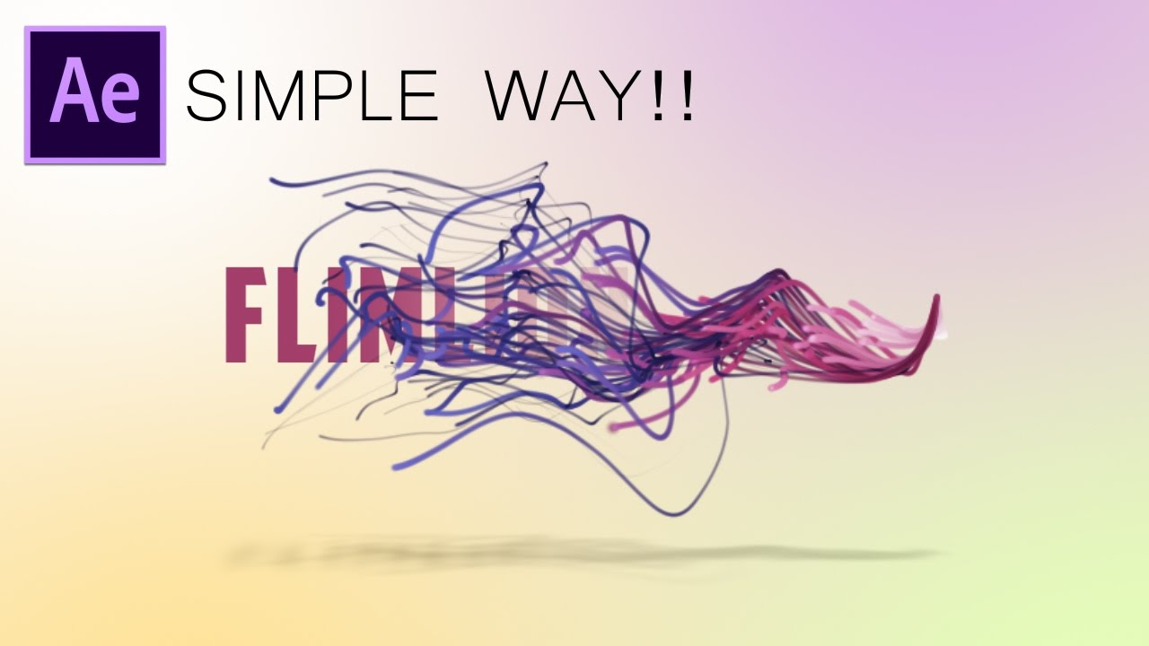 Line Art In After Effects : After effects tutorial particles text simple way