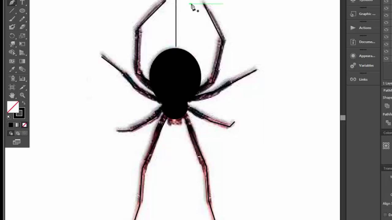 ️🕷️How to draw spider for halloween in two minute. Adobe ...