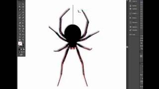 How to draw spider for halloween in two minute. Adobe illustrator tutorial