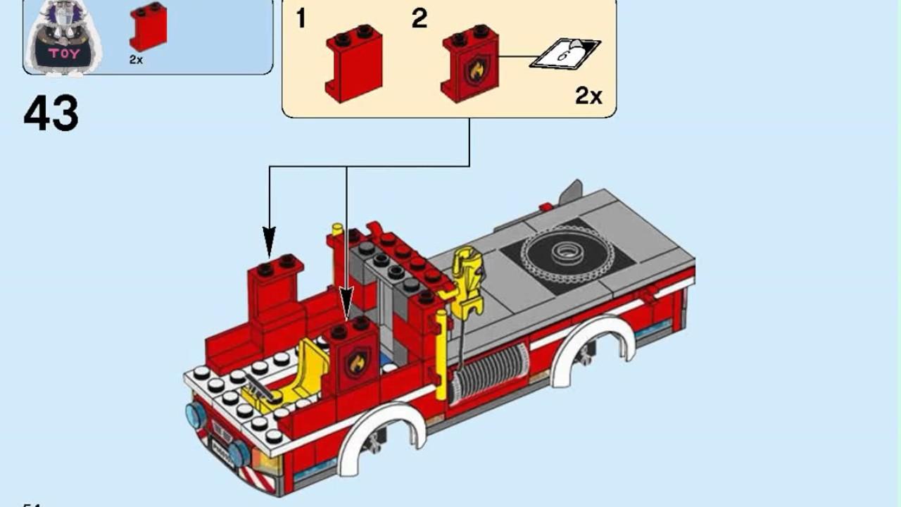 Lego 60143 2017 Lego City Fire Ladder Truck instructions ...Lego City Truck Instructions