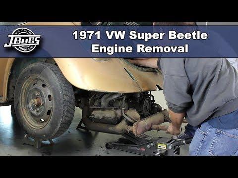 JBugs - 1971 VW Super Beetle - Engine Removal