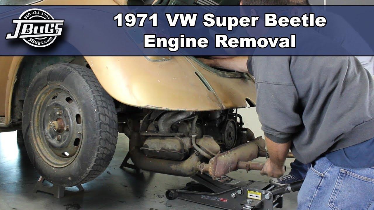 Jbugs 1971 Vw Super Beetle Engine Removal Youtube 1972 Bug Wiring Harness