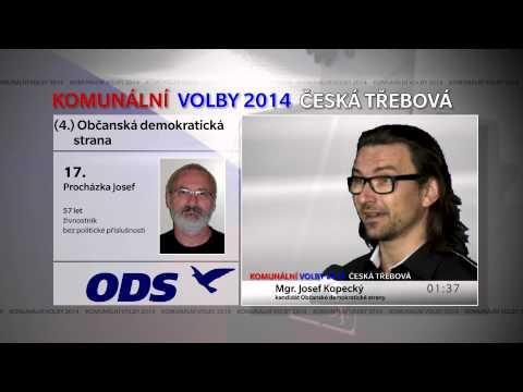 KOMUNÁLNÍ VOLBY 2014: ČESKÁ TŘEBOVÁ - Občanská demokratická strana